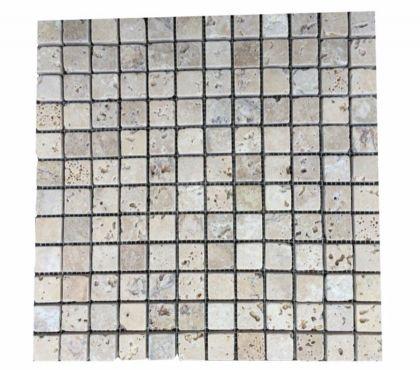 Photos Vivastreet Travertin Classique mosaïque sur filet 30,5 x 30,5 cm