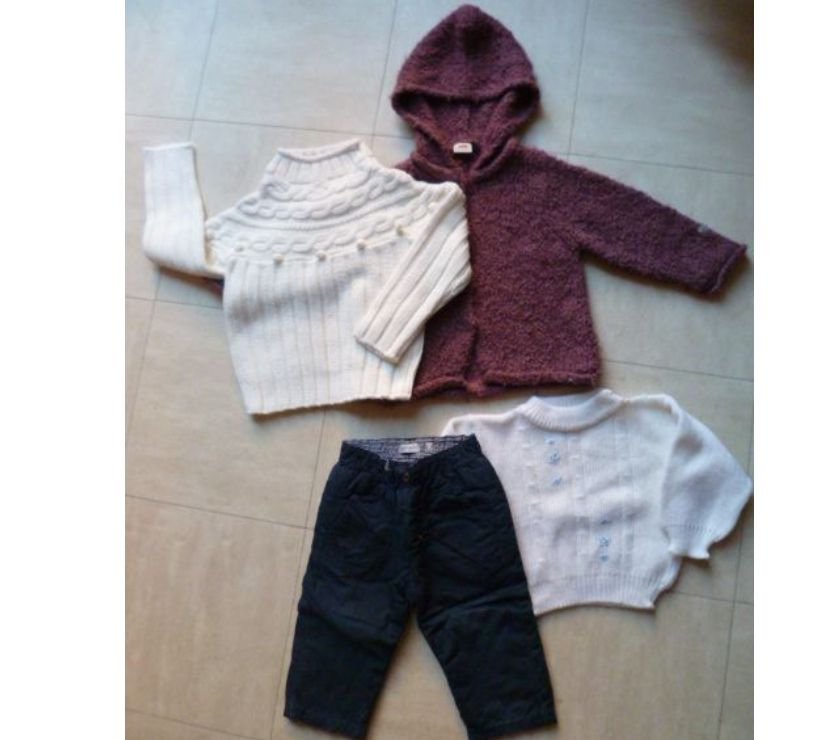 Photos Vivastreet 1 an - pantalon, cardigan, 2 pulls - zoe