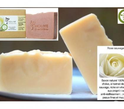 Photos Vivastreet Savon naturel 100% H.Olive Rose Sauvage / Eglantine - 120gr