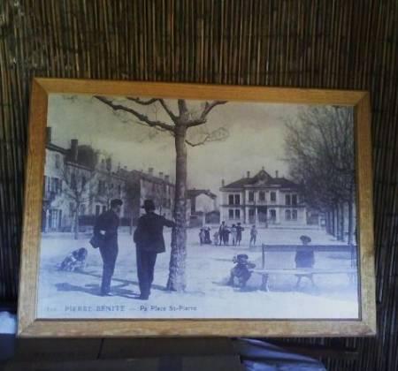 Photos Vivastreet Tableau sur Pierre-Bénite autrefois, cadre sculpté
