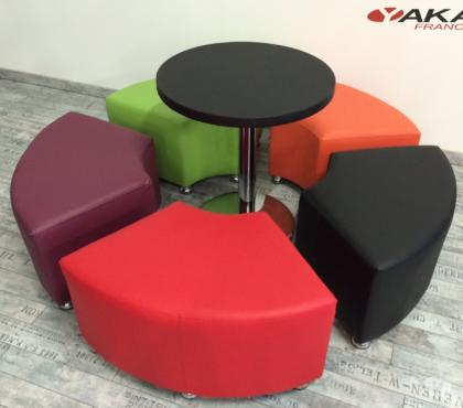 Photos Vivastreet Ensemble POUFS + TABLE restaurant café bar snack