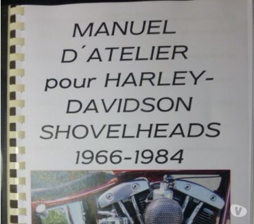 Photos Vivastreet Traduction manuel atelier Harley Shovelhead 1966-84