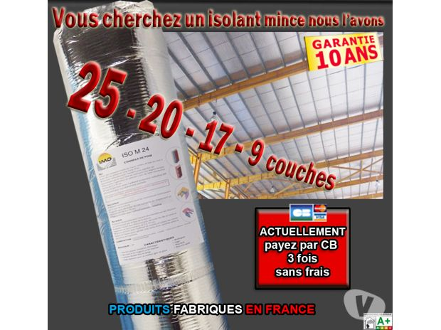 Photos Vivastreet Isolant multi 25 couches Lots255 m² 4,14€/m²