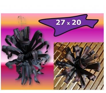 Photos Vivastreet Vase en FER FORGE noir forme FEUILLES (27 x 20 cm)