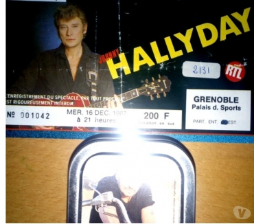 Photos Vivastreet Billet concert et boitier metallique Johnny Hallyday