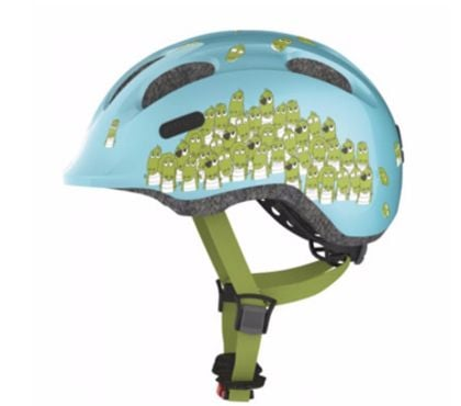 Photos Vivastreet Casque vélo bébé Blue Croco Smiley ABUS