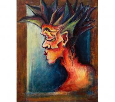 Photos Vivastreet Tableau Acrylique déco Portrait profil personnage imaginaire