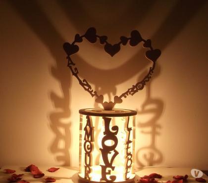 Photos Vivastreet Lampe romantique en bois personnalisée