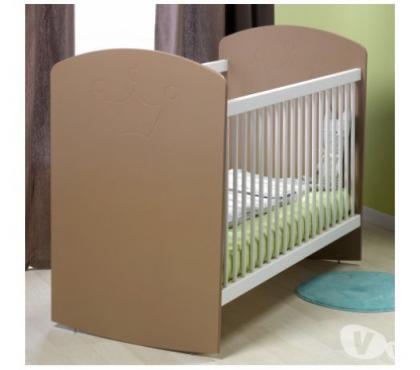 Photos Vivastreet Lit bébé barreaux bascule blanc/cappuccino 60x120