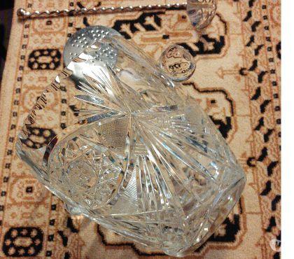 Photos Vivastreet SEAU à GLACE cristal taillé, cuillère et fond amovible. TBE