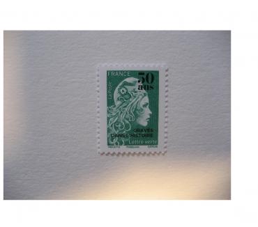 Photos Vivastreet timbre France 2020 Marianne l'engagée surchargée LV