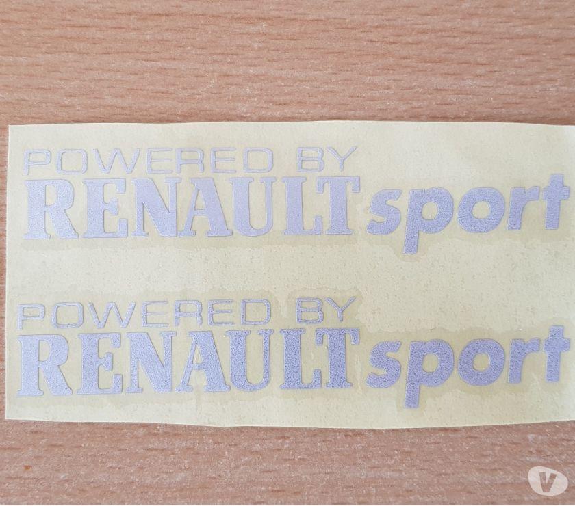 Photos Vivastreet paire d'autocollants powered by Renault sport tout support