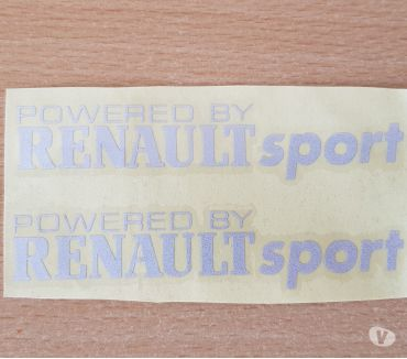 Photos Vivastreet paire d'autocollants powered by Renault sport tout support