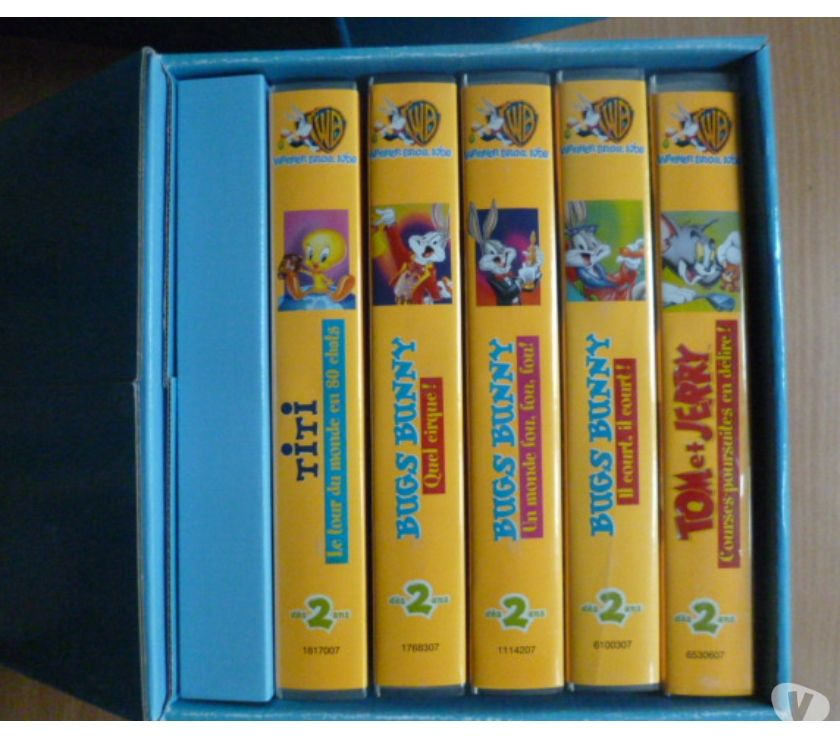 Photos Vivastreet coffret de 5 cassettes vidéo -dessins animés