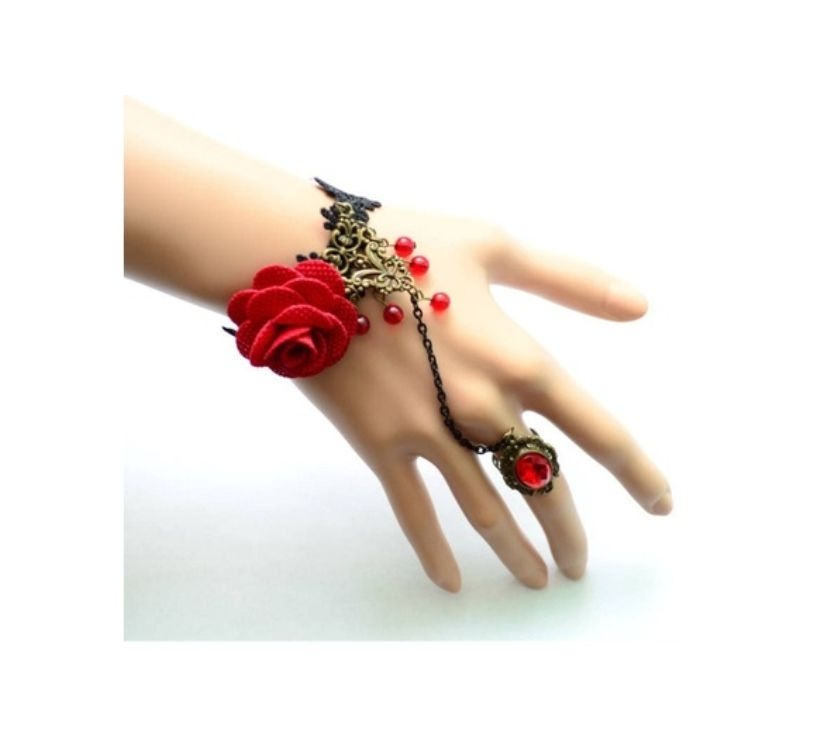 Photos Vivastreet Bague bracelet Rose gothique lolita cosplay manga TV