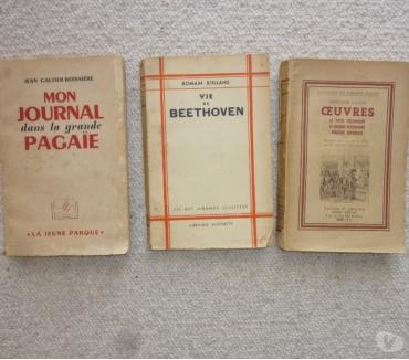 Photos Vivastreet 3 livres anciens hommes et écrivains illustres