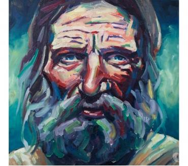 Photos Vivastreet Tableau Acrylique huile Portrait vieil homme barbu
