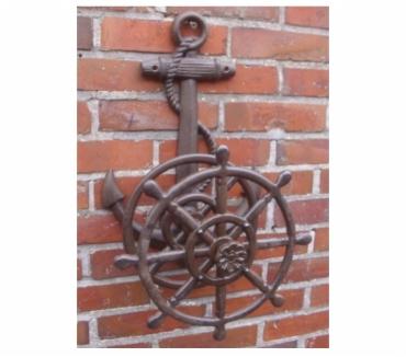 Photos Vivastreet Porte tuyau fonte ancre de la marine et roue
