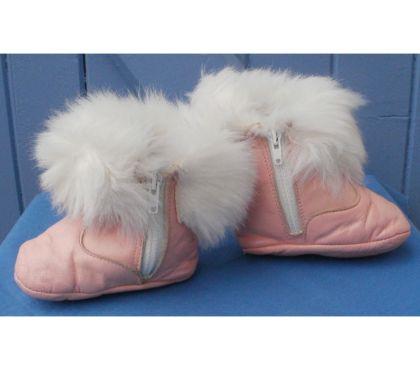 Photos Vivastreet Chaussures bottes roses vintage marque BIQUET T19