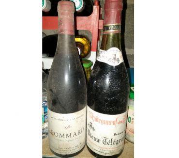 Photos Vivastreet Chateauneuf du Pape Télégraphe 1979 + Pommard Joliot 1981