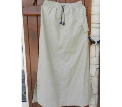 Photos Vivastreet Jupe beige. K de Kid. Long: 84,5 cm. Taille élastiquée.