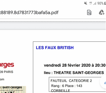 Photos Vivastreet 2 places pour piece Theatre LES FAUX BRITISH 280220 a 20h3