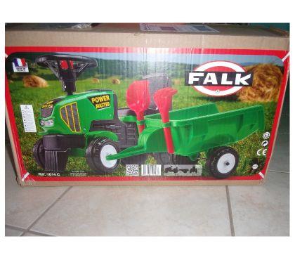Photos Vivastreet Tracteur Power Master Vert+Remorque de Falk (Neuf)
