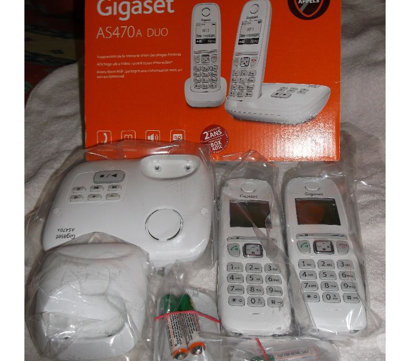 Photos Vivastreet TELEPHONE DUO REPONDEUR GIGASET AS 470 A NEUF