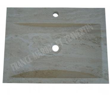 Photos Vivastreet Travertin Classique Beige Evier 60x45 cm Trapeze REF 581