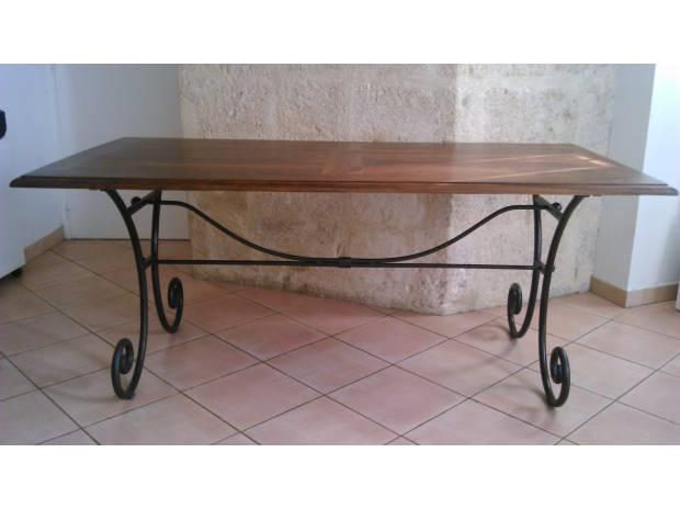 Table en bois et fer forg maison du monde montpellier 34000 - Paravent fer forge maison du monde ...
