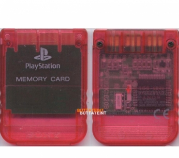 Photos Vivastreet PS123 - CARTE MEMOIRE OFFICIELLE PS1 ROUGE TRANSLUCIDE