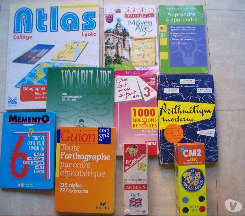 Photos Vivastreet grand lot de livres scolaires, romans, jeux - zoe