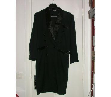 Photos Vivastreet Robe noire DAVE style redingote T1