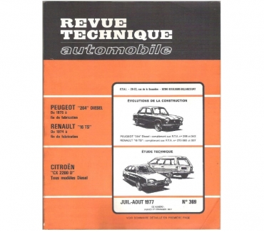 Photos Vivastreet Revue technique Peugeot 204 D (évol. 1975 à fin de fabric.)