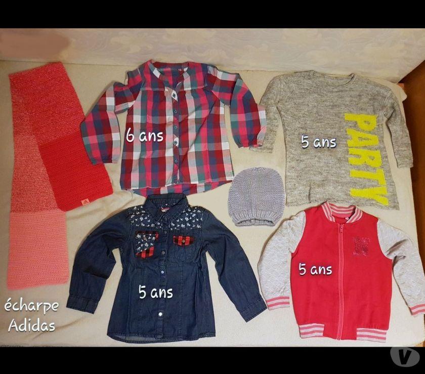 Vêtements occasion Gard Nimes - Photos Vivastreet Chemise, Pull, Blouson, 5 ans fille