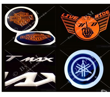 Photos Vivastreet Stickers Doming (relief) personnalisés Motos