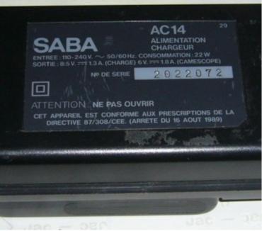 Photos Vivastreet alimentation chargeur pour camescope SABA AC-C15