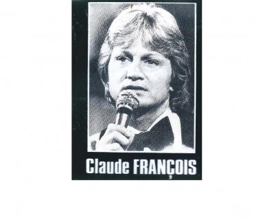 Photos Vivastreet AUTOCOLLANT DE CLAUDE FRANCOIS EN NOIR ET BLANC