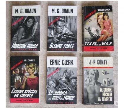 Photos Vivastreet 26 Livres de poche d'Espionnage et Police des années 60 à 70