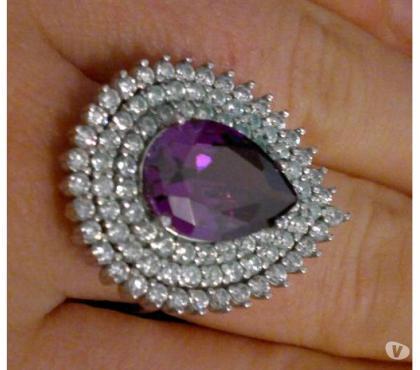 Photos Vivastreet Bague femme diamant violet argent 925 taille 60