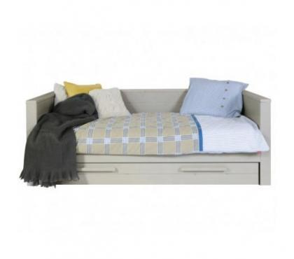Photos Vivastreet Lit sofa bois massif 90x200 Gris galet
