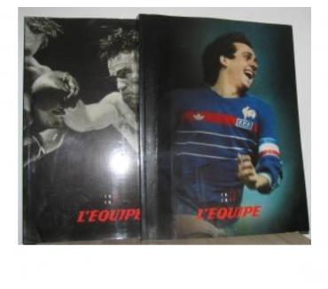 Photos Vivastreet L'EQUIPE 50 ANS DE SPORT COFFRET DEUX VOLUMES 1946 1995