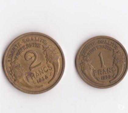 Photos Vivastreet lot de 2 monnaies rares 1F ET 2 F de 1935