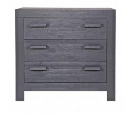 Photos Vivastreet Commode bois massif 3 tiroirs gris acier