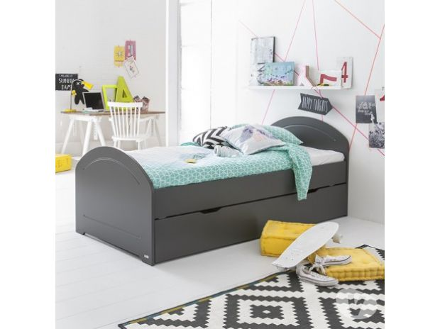 lit gigogne alban sommier anthracite 90x200 tourcoing 59200 meubles pas cher d 39 occasion. Black Bedroom Furniture Sets. Home Design Ideas