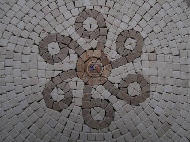 Photos Vivastreet Travertin Micro Mosaique Rosaces EN STOCK