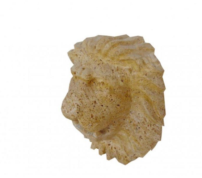 Var Forcalqueiret - 83136 - Photos Vivastreet Travertin Jaune Or Tête de Lion Sculpture 40x30 cm REF 1821