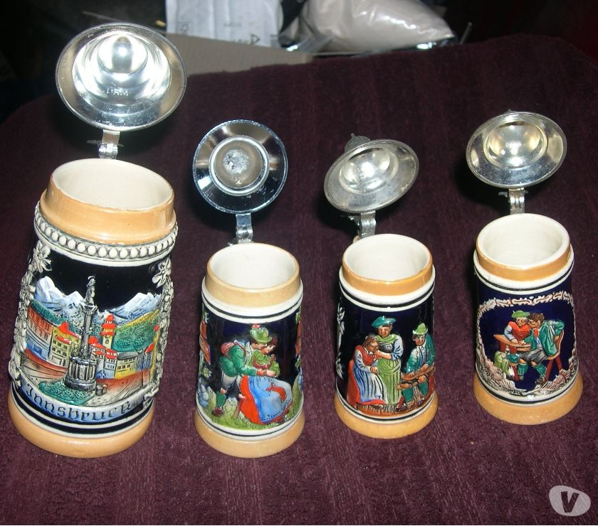 Photos Vivastreet LOT 4 CHOPES A BIERES VINTAGE- HOFBRAUHAUS ALLEMAND STEIN