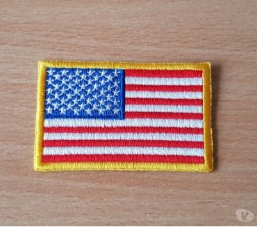 Photos Vivastreet ecusson brodé drapeau américain 8x5 cm thermocollant