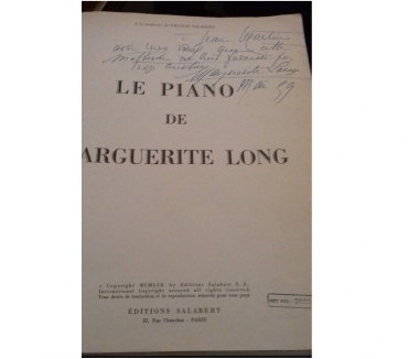Photos Vivastreet Partition de piano signé 1959 par Marguerite Long